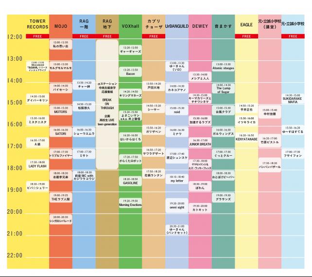 いつまでも世界は2016タイムテーブル2