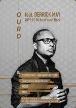 福岡のテクノパーティー『Ourd』に、デトロイトテクノの創始者・DERRICK MAYが出演決定。2019年1月4日にKIETH FLACKで開催